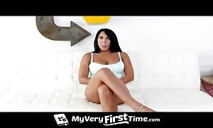 Tanned female being boned rock hard in her butt sex slot for a primary time