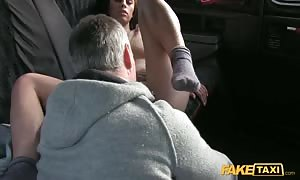 sweet lady is getting torn up rigid in anal by driver