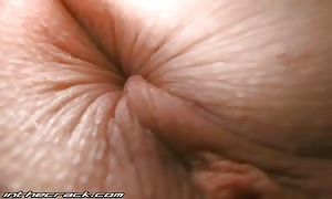 Awesome-looking hotty is explaining off her wide-opened vaginal lips