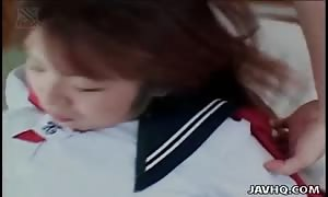 Seduction of a japanese schoolgirl with finger boning