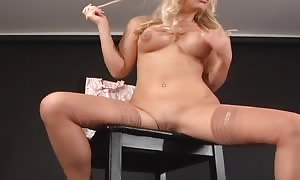 hottest HLS Photogravure blond shows her boobs on the audition