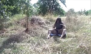 Indian new comer Kikis public nudity and outdoor masturbation