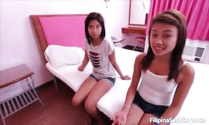 Innocent-looking Filipina slammed by a big white shaft