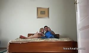 wonderful blonde girlfriend will get anal with boyfriend