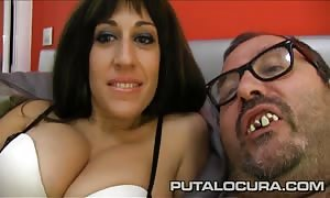 PUTA LOCURA stunning French babe pounded by a fat dude