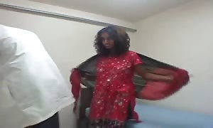 soiled Indian curly-haired slut is getting your hands on your hands on fucked by doc in her black slit