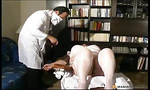 plump prostitute having nasty sex with her turned on gyno physician