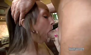 little university woman Katie Marie drills an older stud