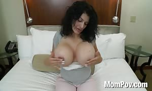 mom with giant juggs