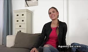 shocking hotty deep throat and ramming on audition pov