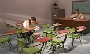 Schoolgirl cheats and will get penetrated