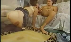 Schoolgirl does oral with her guy before anal
