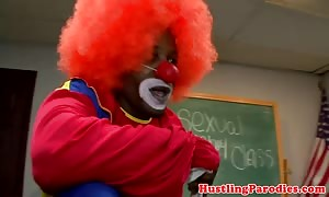 hispanic woman swallows clown