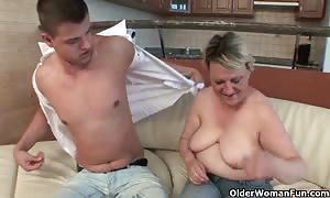 blow your load on grandma's face and stomach