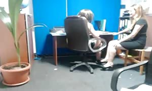 breasts touch coworker
