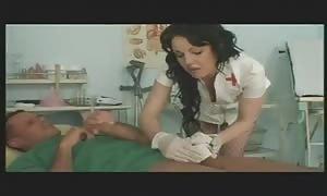 teenie aroused nurse helping pantient