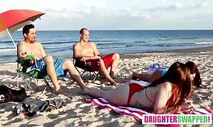 Gina Valentina And Kobi Brian in Beach Bait And swap