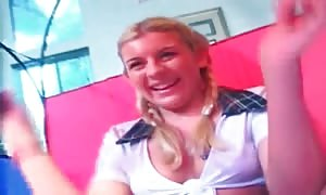 pretty schoolgirl gobbles big ebony