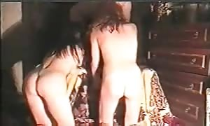 filthy homemade 3 way action that includes two Russian females