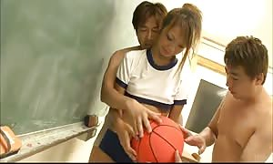 Two hot asian boys making an try to entice really juicy schoolgirl