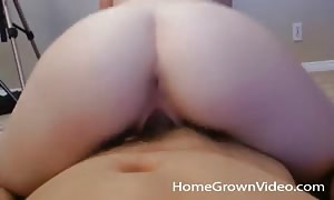 beginner beauty with gorgeous ass banged stiff