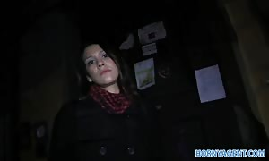 HornyAgent steamy Spanish dark haired sex on the stairs