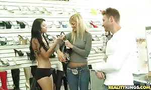 Astonishing women are swallowing his rock rock-hard hard-on for money!