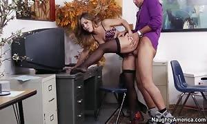 Office girl can get slammed on a desk