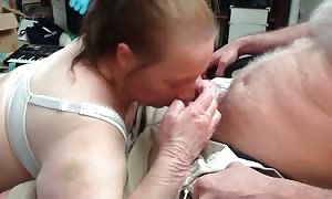 old female with incredible ruthless face-fuck abilities