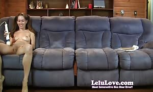 The Lelu Twins double vision mutual jerking off on sofa