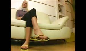 attractive girls In hot Flip Flops two