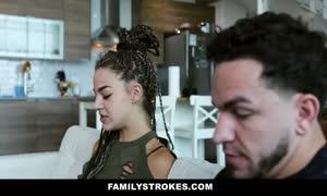 FamilyStrokes - Sloan Harper Pleases Her turned on Stepbro