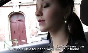 trimmed vagina teenager hitchhiker licks