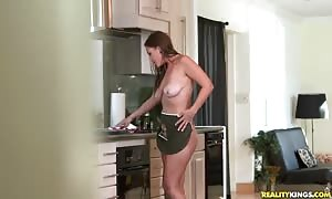 dude with vast pecker inviting saggy-tit milf