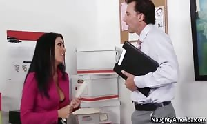 horny Jessica banging at work