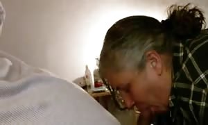 49yr mature Lynne loves deep throat giant ebony dick and gobbling jizz