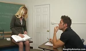 Tutoring him after class so he can even