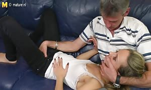 young daughter banged her father's mature pal