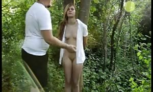 Russian fuck friends in the forest