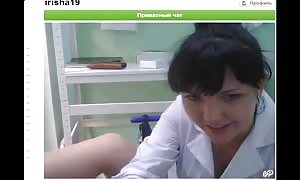 filthy black-haired is sucking her finger and playing with a cunt in web-cam