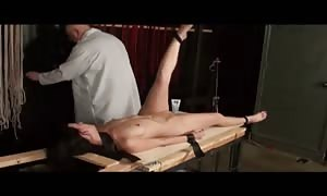 insane molested hooker being banged by her sub trainer in a horny bondage and abuse video clip clamp