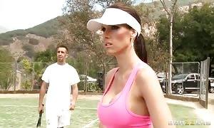 Jennifer Dark slurps a tennis player's shlong