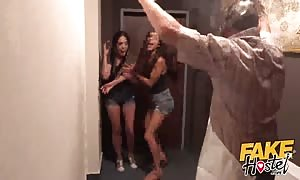 faux Hostel Halloween special with turned on teen latin girls