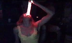 deepthroat a enormous glow pretend shaft