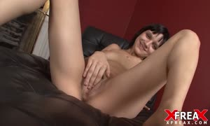 nasty brown-haired squirts desire crazy