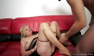 mature lady Sila fucks with her step son