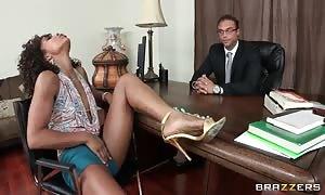 black beauty Misty Stone screwing in the office