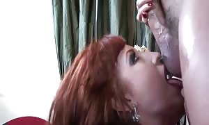 giant breast red head screwing in thigh high nylon