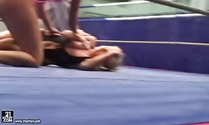 lesbo fight with Barbie White and Cipriana