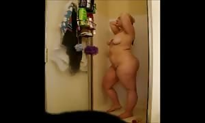 Cheating fat Gina shoots a load